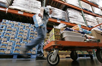 Stocking up at Costco, 2008