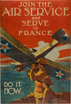 Poster encouraging Americans to serve in France during World War I, 1917