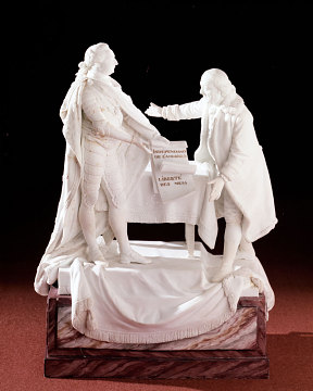 Porcelain Figurine of Benjamin Franklin and King Louis XVI, 1780s