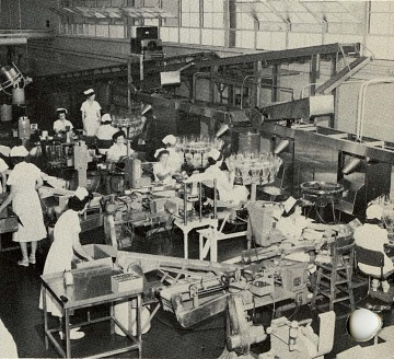 Production line in Los Angeles, 1950s