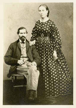 Peter Glass and his second wife Catherine, 1868