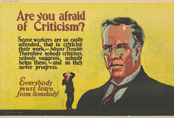"""Are you afraid of Criticism?"" poster, 1923"