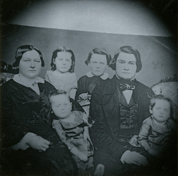 Peter and Marian Glass and children, 1850s