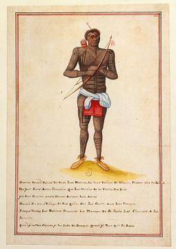 Fox man, by French artist, around 1720