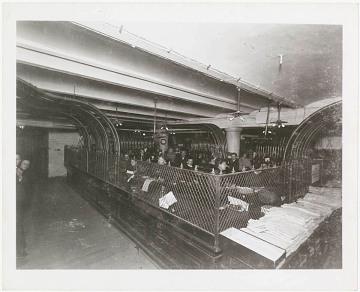 Pneumatic tube room at Marshall Field, 1897