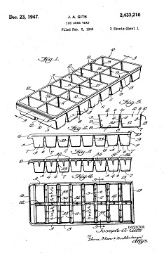 U.S. Patents granted for ice trays, 1930-1940s