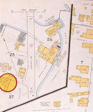 Sanborn Insurance map, 1887