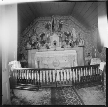 Catholic chapel at Rancho Camulos, late 1800s