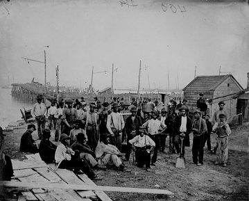Quartermaster's Wharf, Alexandria, Virginia, about 1863