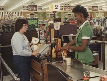 Supermarket scanner, 1970s