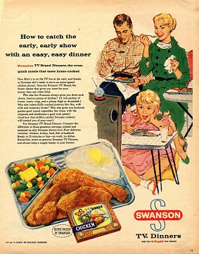 Ad for TV Dinners, about 1954