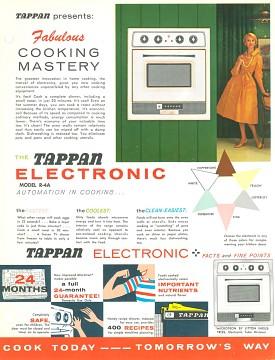 Tappan informational flier, 1955 (front)