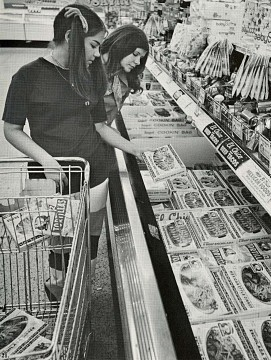 Tex-Mex in the freezer section, 1970