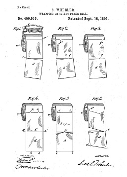 U.S. patent for an improved tearing toilet  paper, 1892