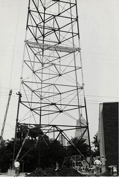 Constructing the KCOR-TV Antenna, 1954-55