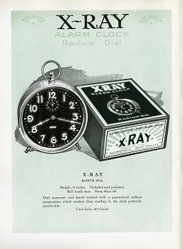 Advertisement for X-Ray Alarm Clock, 1921–1922