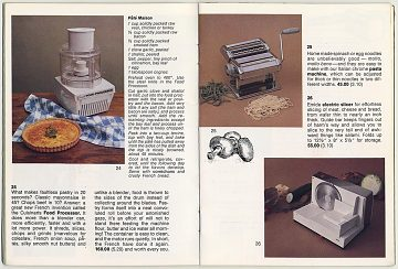 An early Williams-Sonoma mail-order catalog, 1974