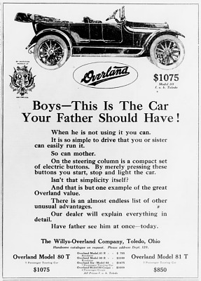 Ad from The American Boy, 1915