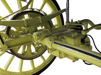 The electric motor in the museums' 1900 Riker automobile.