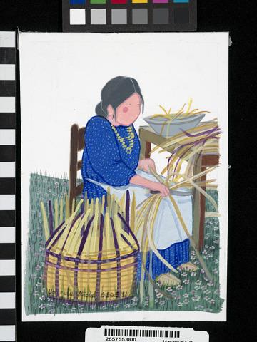 Image 1 for Cherokee Split Cane Basket Maker