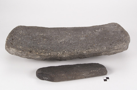 Image 1 for Metate/Flat mortar and mano/grinding stone