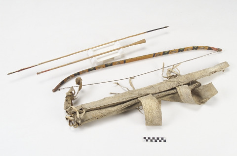 Image 1 for Bow, bowcase, quiver, and arrows