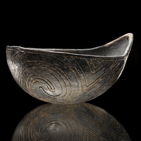 Image 1 for Gourd-shaped bowl