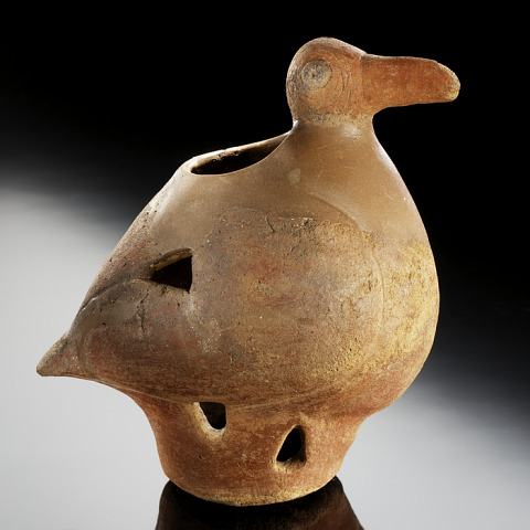 Image 1 for Footed vessel in the form of a vulture