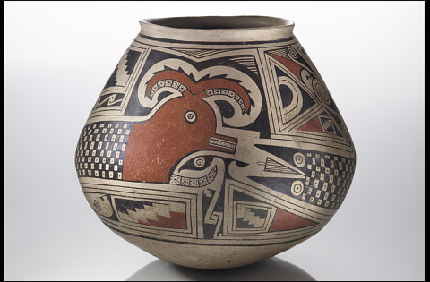 Image 1 for Jar with feathered serpent design