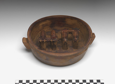 Image 1 for Marriage bowl with figures of yoked oxen