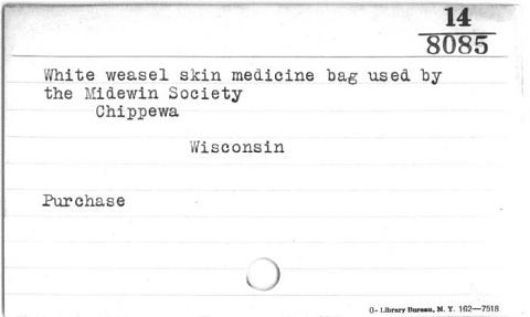 Image for Medicine bag for Midewiwin rituals (Image withheld)