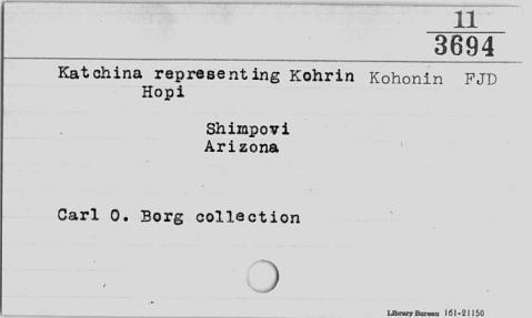 Image for Kohrin (Kohonin) kachina