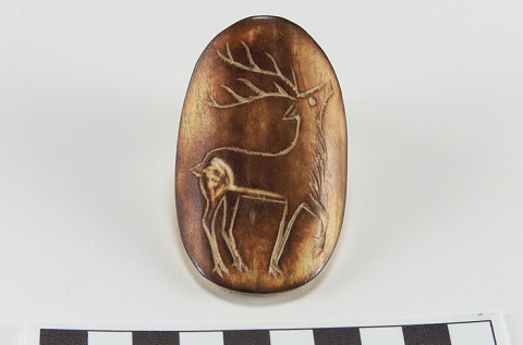 Image 1 for Brooch/Pin with elk design