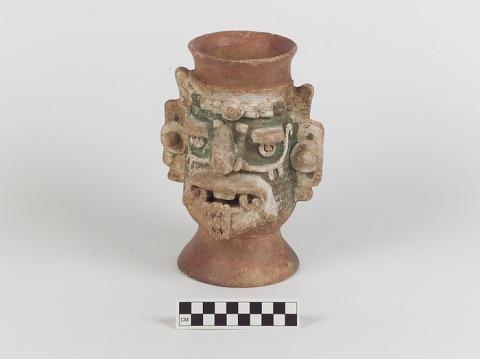 Image 1 for Incense burner representing the rain god Tláloc