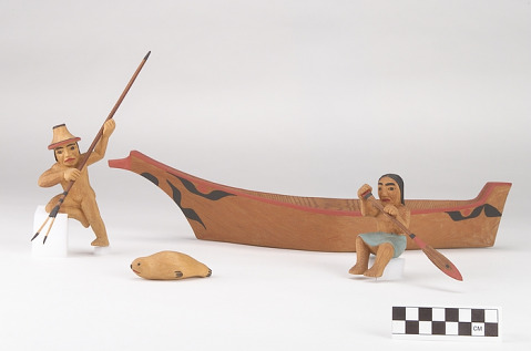 Image 1 for Canoe model with figures