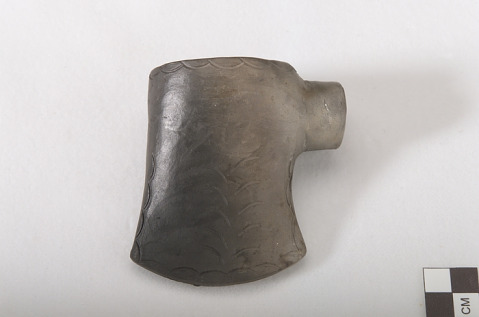 Image 1 for Pipe bowl in the form of a tomahawk or axe