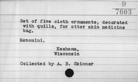 Image for Medicine bag part/fragment for Midewiwin rituals (Image withheld)