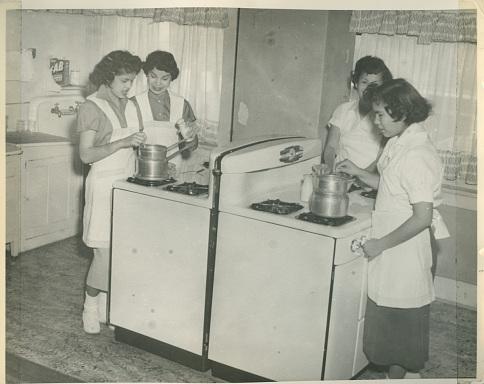 Chilocco Home Economics Class, Oklahoma, around 1955