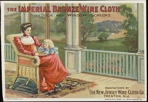 Imperial Bronze Wire Cloth Trade Card, 1899
