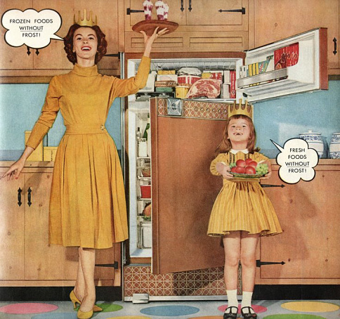 Ad for a real Frigidaire, 1959