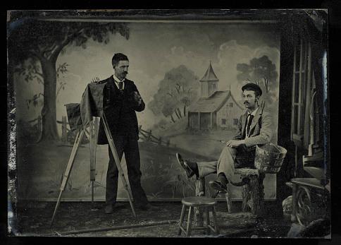 Photo studio, 1880s