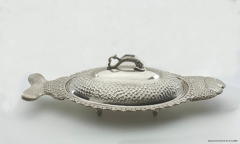 Fish-shaped serving platter, 1970s