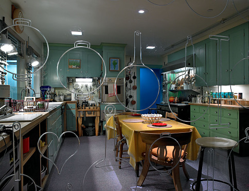 Julia Child's kitchen on display in the FOOD exhibition