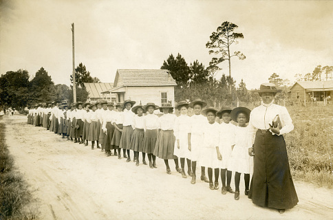 Mary McLeod Bethune at the Daytona Literary and Industrial School for Training Negro Girls, 1905