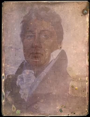 Levi Hill, Portrait eines Mannes, Hillotypie auf Kupferplatte, ca 1850s-1860s