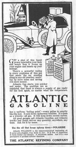 Atlantic Refining Company advertisement, 1915