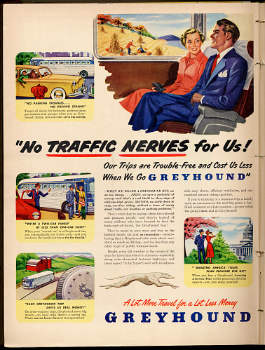 Greyhound advertisement, 1949