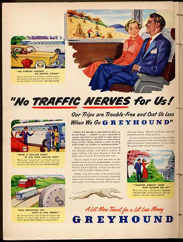 Greyhound advertisement, 1949