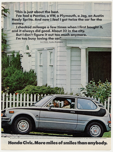 Honda Civic advertisement, 1976