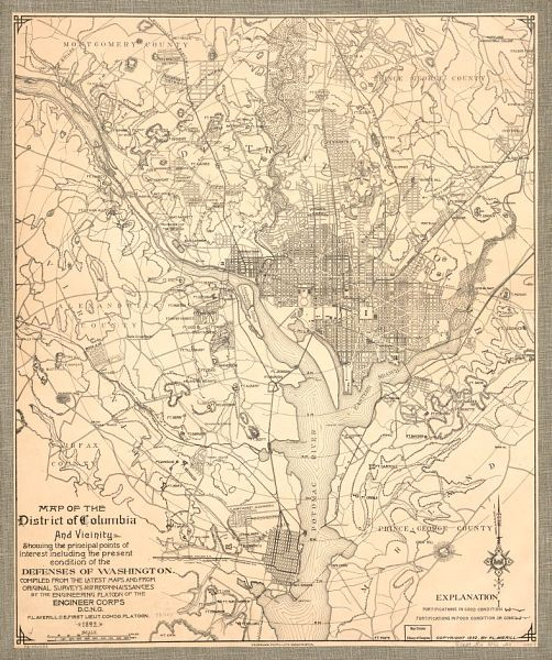 """Map of the District of Columbia and Vicinity,"" 1892"